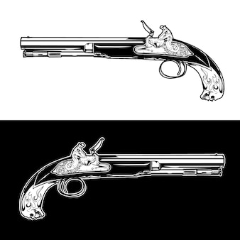 Gun illustratie collectie