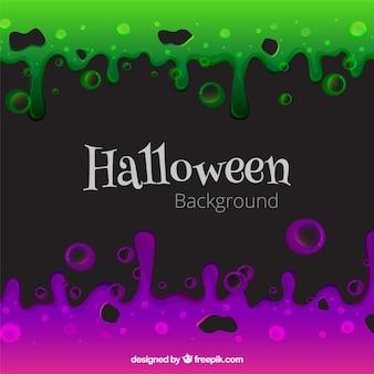 Halloween achtergrond met kleurrijke vloeistof