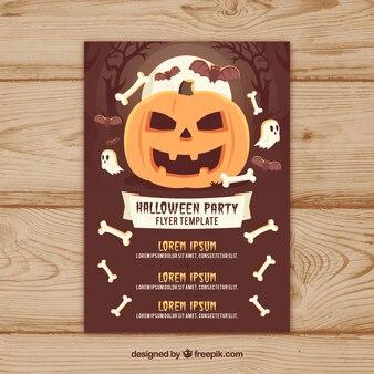 Halloween feestvlieger met pompoen