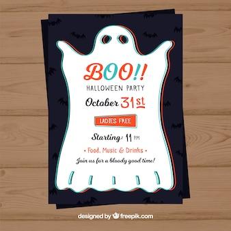 Halloween poster met mooie spook