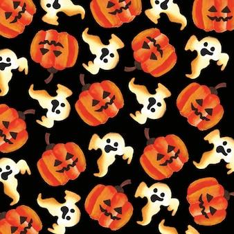 Halloween Waterverf Achtergrond
