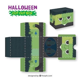 Halloween zombie cutout box