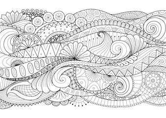 Hand getekend sier ontwerp