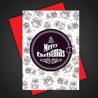 Hand Getekende kleurrijke Kerstbrochure