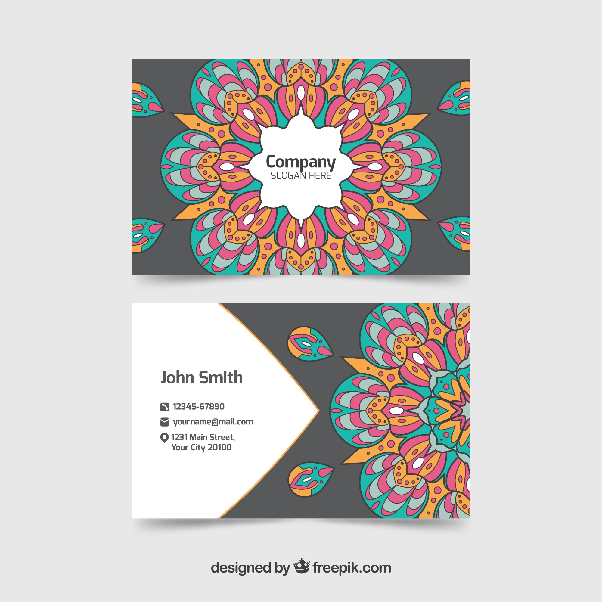 Hand getekende mandala corporate card