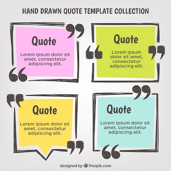 Hand getekende offerte template set