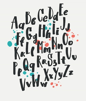 Hand getekende set type Lettering set