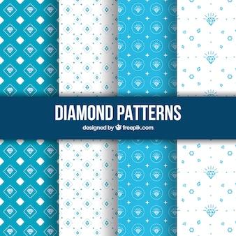Hand getrokken diamant patronen