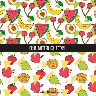Hand getrokken fruit patronen