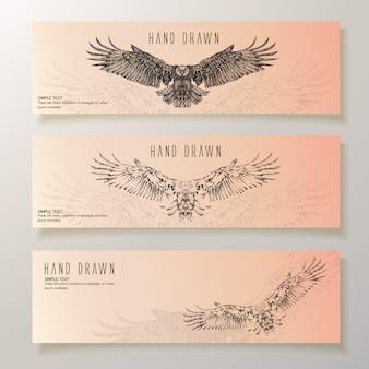 Handgetekende adelaarbanners