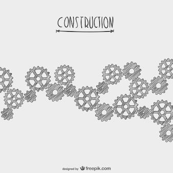 Handgetekende onder constructie vector