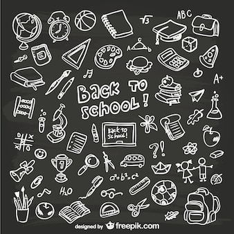 Handgetekende school-graphics