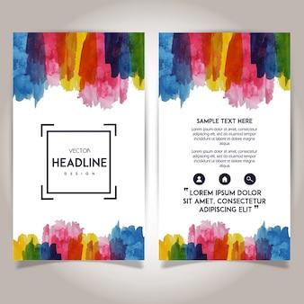 Handgetekende Waterverf Brochure Sjabloon Design