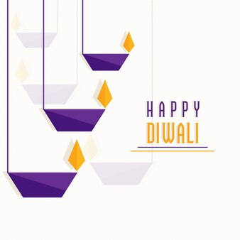 Hangende papier oillit lampen, Happy Diwali vieringen concept.