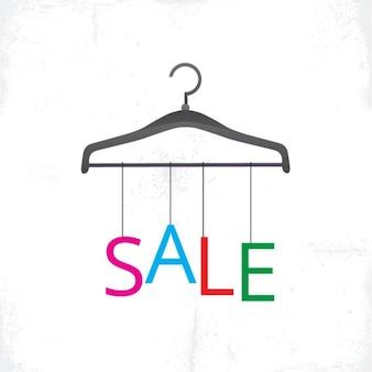 Hanger met verkoop brieven opknoping