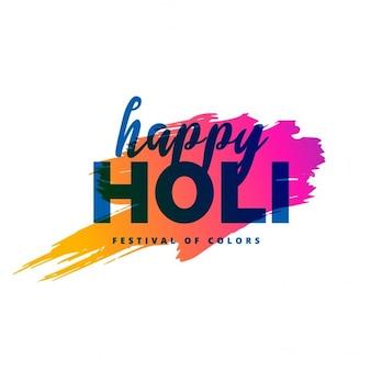 Happy holi achtergrond met kleur splash