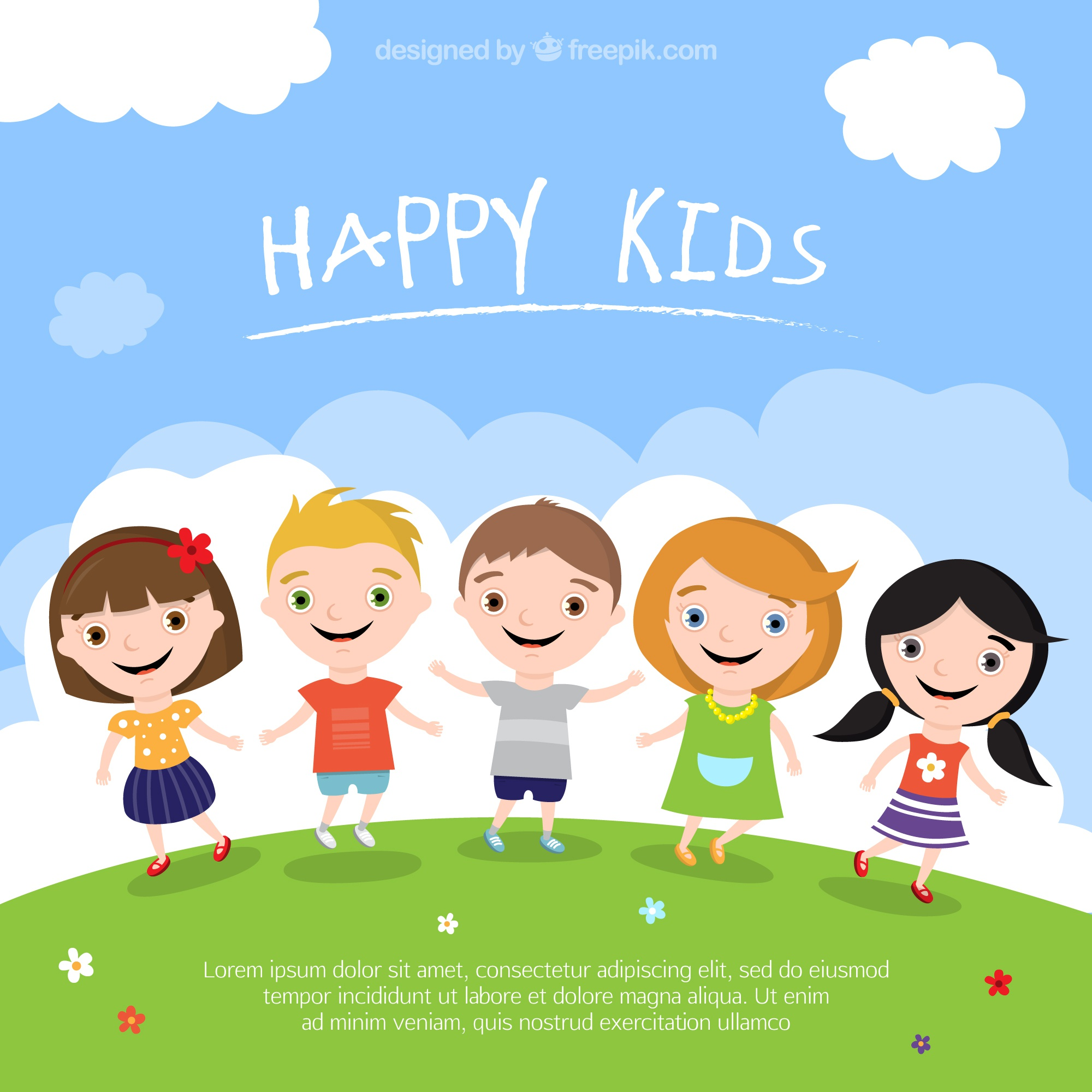 Happy kinderen illustratie