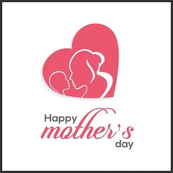 Happy Mother Day Lettering Handgemaakte kalligrafie vector illustratie Moeder dagkaart