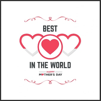 Happy Mother Day Lettering Handgemaakte kalligrafie vector illustratie Moeder dagkaart