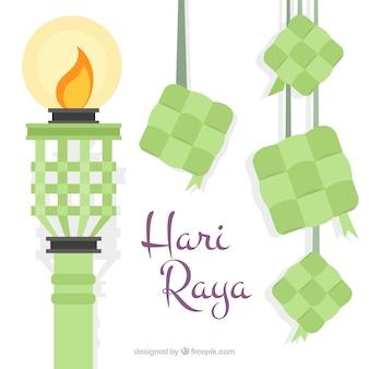 Hari Raya fakkel achtergrond