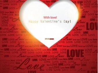 Hart en de liefde woorden achtergrond