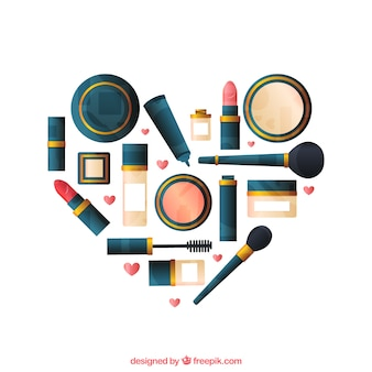 Hart gemaakt van make-up