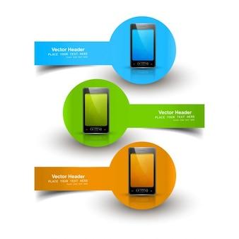 Headers met mobiele telefoons