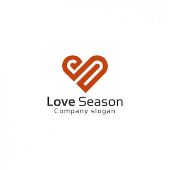 Heart Shaped Logo Template