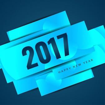 Heldere blauwe kleur nieuwe jaar 2017 achtergrond