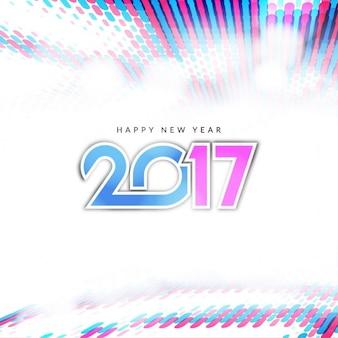 Heldere kleurrijke nieuwe jaar 2017 achtergrond ontwerp