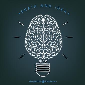 Hersenen en Idea illustratie