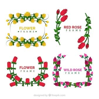 Het aantal frames met fantastische bloemen