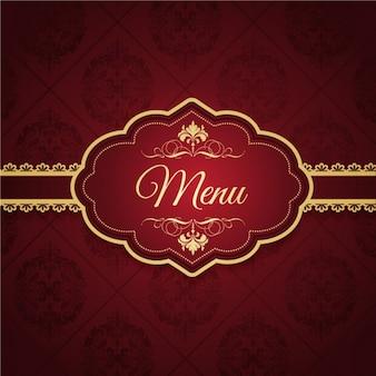 Het elegante ontwerp van het menu