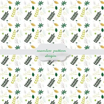 Het patroon van bladeren met een witte achtergrond
