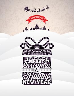 Het posterontwerp van Kerstmis