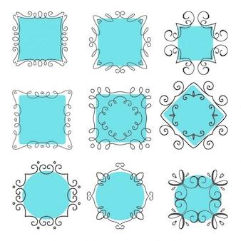 Het verzamelen van de hand getekende frames