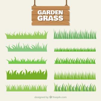 Het verzamelen van gras