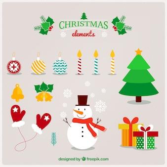 Het verzamelen van kerst elementen