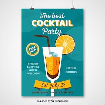 Het vintage poster van de cocktailpartij