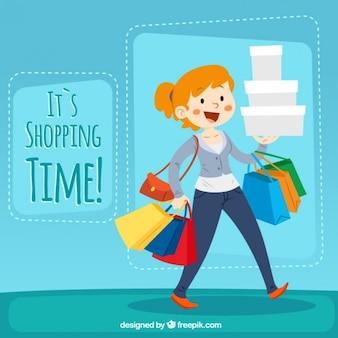 Het winkelen tijd illustratie