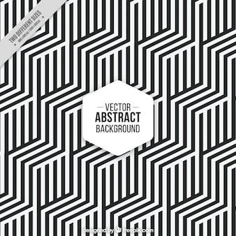Hexagonale achtergrond met zwarte en witte strepen