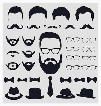 Hipster blik elementen collectie