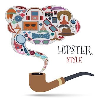 Hipster stijl concept