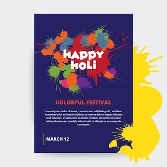 Holi festival posterontwerp