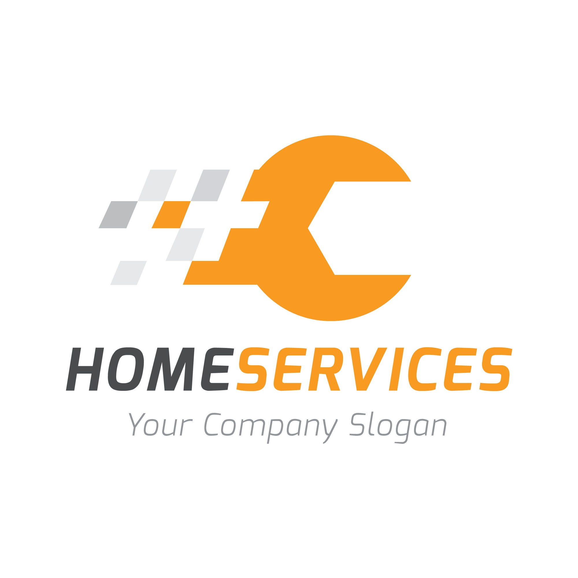 Home services logo, Home care logo sjabloon.