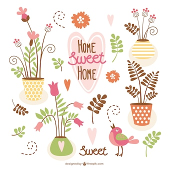 Home sweet home vector pack