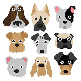 Honden karakter ontwerp