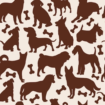 Honden naadloos patroon