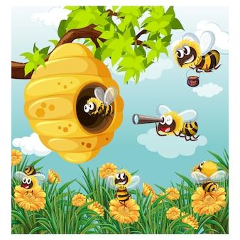 Honing achtergrond ontwerp