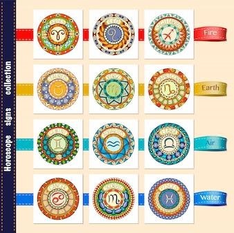 Horoscoop tekens collectie